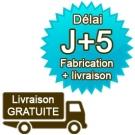 1 banderole PVC 500g/m² enduite 1m x 1,50m quadri recto